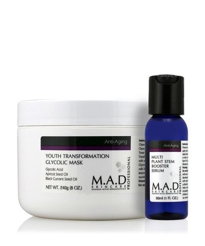 YOUTH TRANSFORMATION GLYCOLIC MASK 240 g +  BOOSTER 30 ml- maska anti-aging
